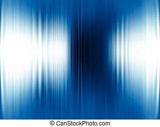 résumé, arrière-plan bleu, métallique, v