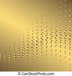 résumé, arrière-plan doré, (vector)