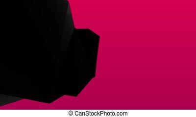 résumé, arrière-plan noir, 3d