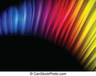 résumé, arrière-plan noir, coloré, vagues