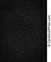résumé, arrière-plan noir, ou, texture, craquelure