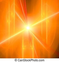 résumé, arrière-plan., orange, -, jaune, palette.