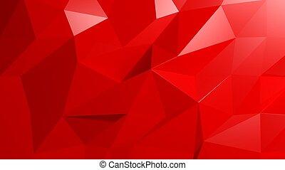 résumé, arrière-plan rouge, poly, bas
