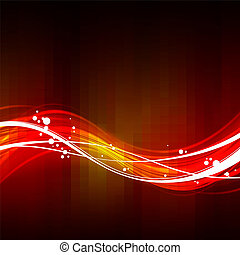 résumé, arrière-plan rouge, vagues