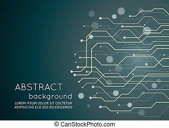 résumé, arrière-plan., vecteur, circuit électronique, technologie