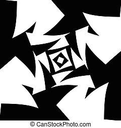 résumé, arrière-plan., vecteur, noir, blanc, art.