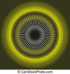 résumé, arrière-plan vert, circulaire