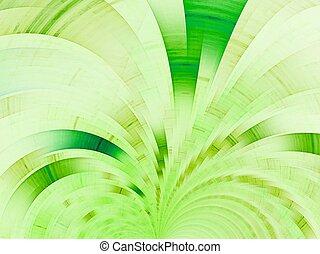 résumé, arrière-plan vert, fan.