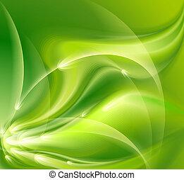 résumé, arrière-plan vert