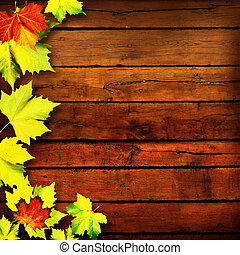 résumé, Arrière-plans, feuilles, automne, conception, ton