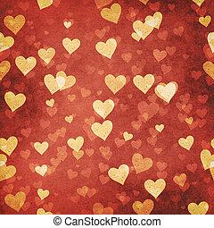 résumé, arrière-plans, valentin, conception, grungy, ton