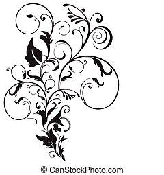 résumé, artistique, floral