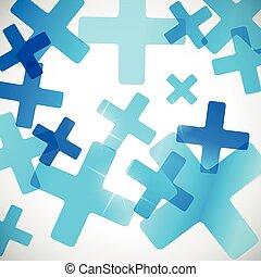 résumé, background:, croix