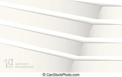 résumé, bande, arrière-plan dépouillé, coin, blanc, shadow., structure