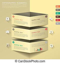 résumé, bannière, infographics