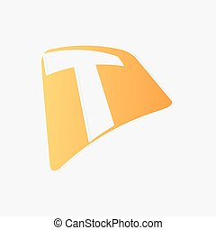 résumé, basé, t, lettre, icône