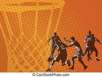 résumé, basket-ball, fond