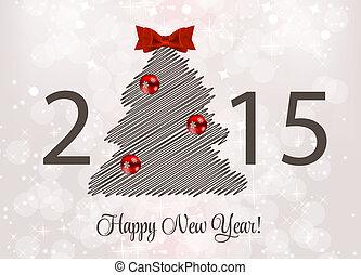 résumé, beauté, 2015, nouvel an, arrière-plan., vecteur,...