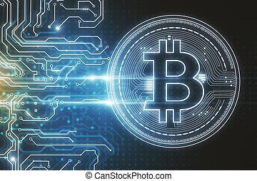 résumé, bitcoin, fond