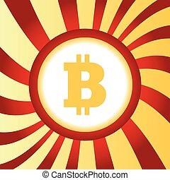 résumé, bitcoin, icône