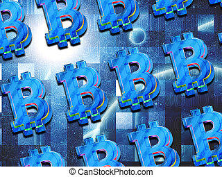 résumé, bitcoin, numérique