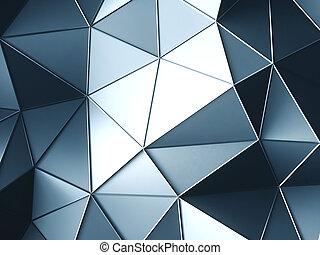 résumé, bleu clair, triangles