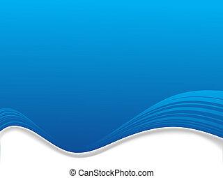 résumé, bleu, espace, fond, copie, illustré, écoulement, vague