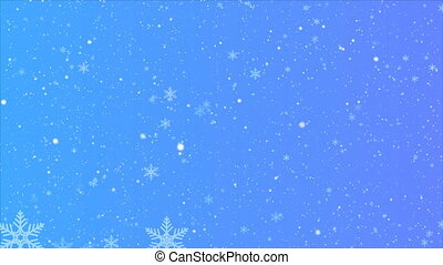résumé, bleu, flocons neige, fond