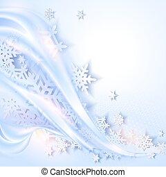résumé, bleu, hiver, fond