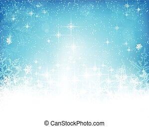 résumé, bleu, noël, hiver, fond, blanc
