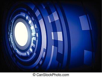 résumé, bleu, technologie, fond, hitech, numérique
