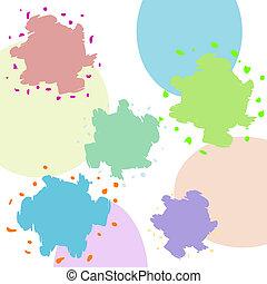 résumé, blots, fond, multicolore