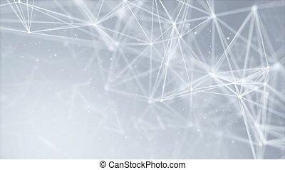 résumé, boucle, points, lines., connecté, géométrique, fond