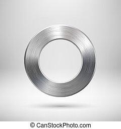résumé, bouton, métal, cercle, texture
