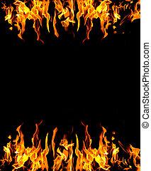 résumé, brûler, fond