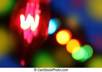 résumé, brouillé, incandescent, lumières, fond