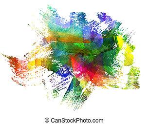 résumé, brouillé, stain., guasch, blob., freehand, painting., dessin, blot.