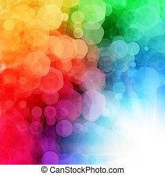 résumé, burst., illustratio, géométrique, fond, soleil, vecteur