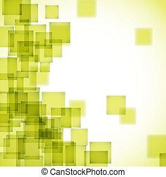 résumé, carrée, fond jaune