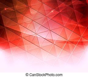 résumé, carrés, arrière-plan rouge
