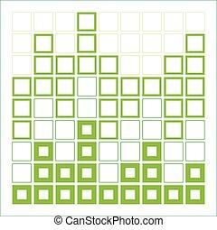 résumé, carrés, composition