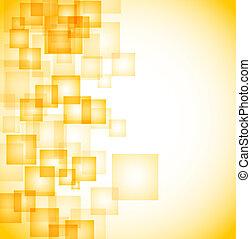 résumé, carrés, fond jaune