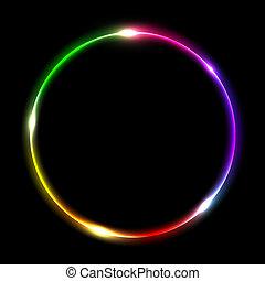 résumé, cercle, multicolore