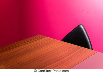 résumé, chaise, mur, bureau, &