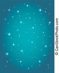 résumé, ciel, stars., vecteur, fond, nuit