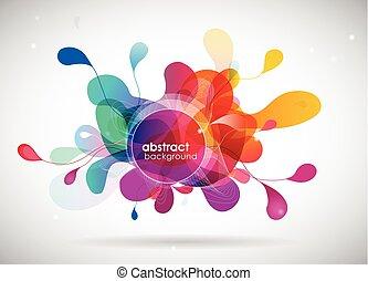 résumé, circles., arrière-plan coloré