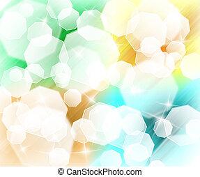résumé, coloré, fond, lumière