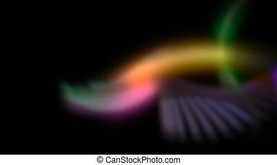 résumé, coloré, fond, mouvement, néon, lignes
