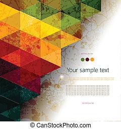 résumé, coloré, géométrique, fond