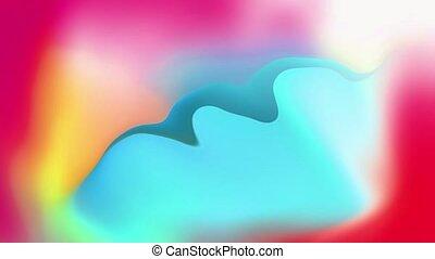 résumé, coloré, gradient, liquide, animation., fond, ...